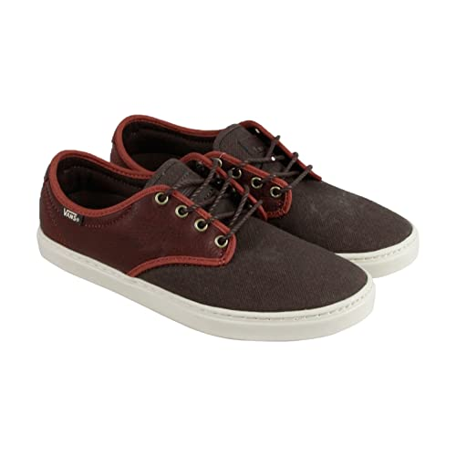 7859c7a351 Image Unavailable. Image not available for. Color  Vans Ludlow + Mens Brown  Leather Canvas Lace Up Sneakers ...