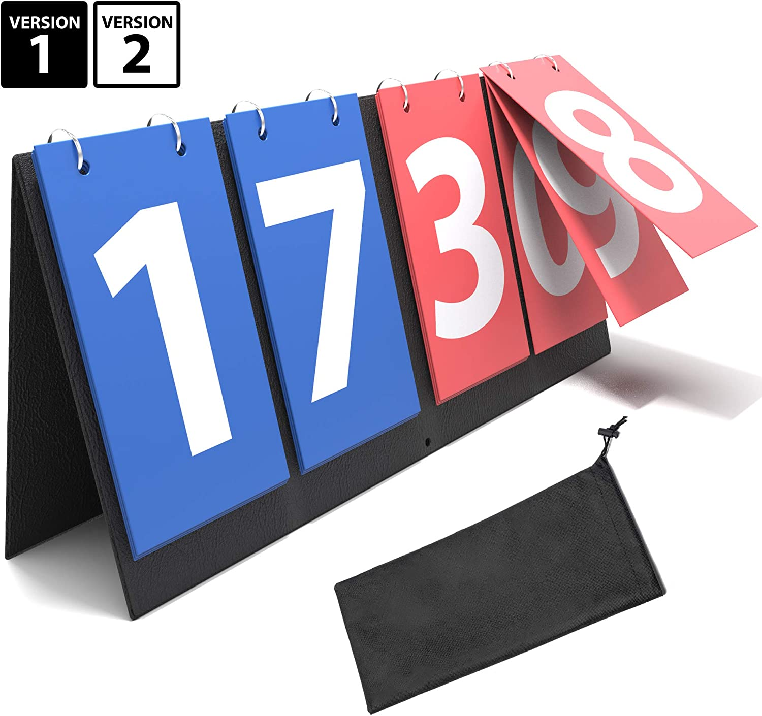 Synergee Flipper Scoreboard Portable Tabletop Flip Score Keeper. Great for Soccer, Ping Pong, Baseball, Basketball, Volleyball and Other Sports. Available in 4 & 6 Digits.