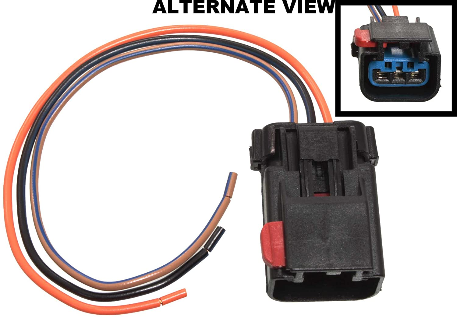 APDTY 756298 Wiring Harness Pigtail Connector 3-Wire Direct Fit Cam on 6 pin wire connector, 3 pin connector, 3 terminal connector, 3 wire wiring harness, 3 hose connector, 3 wire power connector, screw terminal connector,