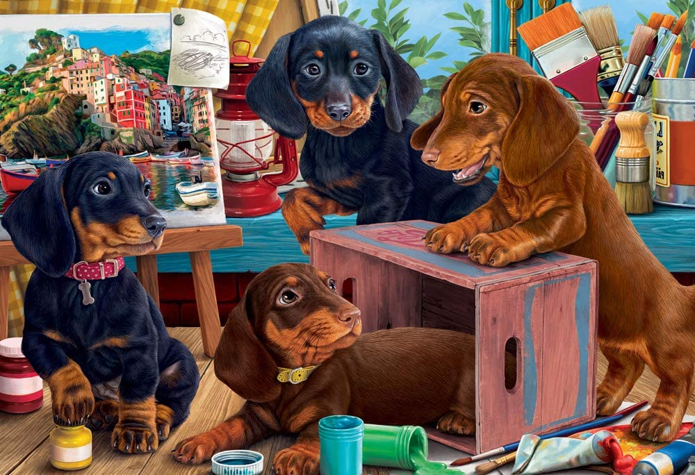 Studio Puppies Jigsaw Puzzle 100 Piece