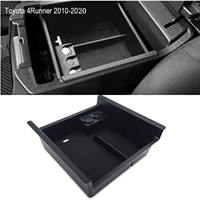 JOJOMARK for 2020 Toyota 4 Runner Accessories Center Console Organizer Tray Armrest Box Secondary Storage Fit 2020 2020 2020 2020 2016 2015 2014 2013 2012 2011 2010 4Runner: Automotive