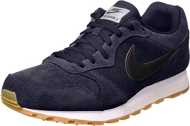 Nike MD Runner 2 Suede, Zapatillas de Atletismo para Hombre, Multicolor (Obsidian/Black/Light Bone 401), 40 EU: Amazon.es: Zapatos y complementos