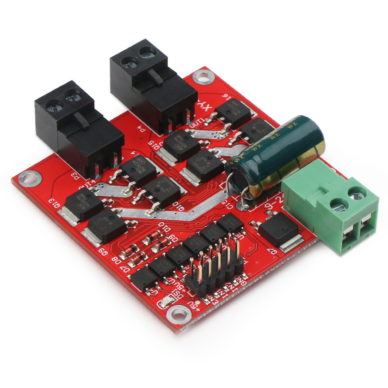 DC Motor Driver, DROK L298 Dual H Bridge Motor Speed Controller DC 6.5V-27V 7A PWM Motor Regulator Board 12V 24V Electric Motor Control Module Industrial 160W with Optocoupler Isolation by DROK (Image #5)