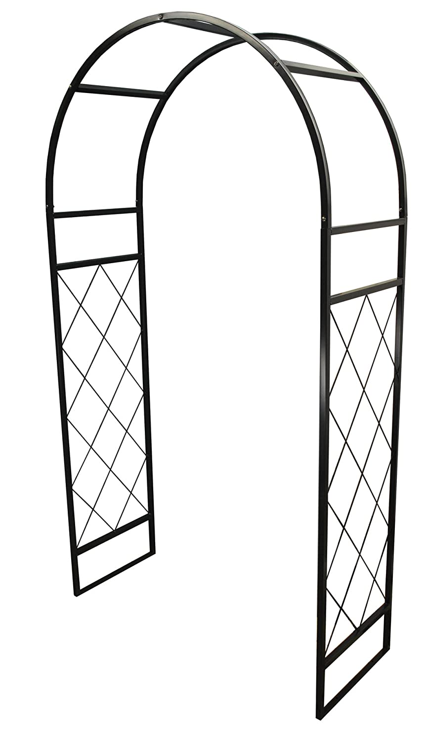 Selections Metal Knightsbridge Garden Arch with 4 Ground Anchors