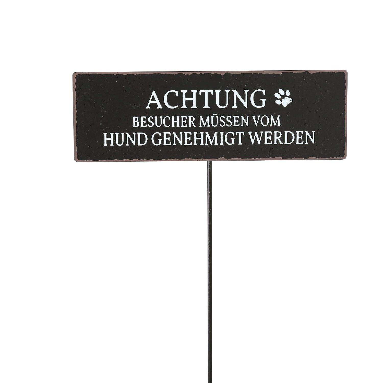 Wunschmodell:2 B.o.l.t.z.e 1 x Gartenstab Hund wei/ß//schwarz H/öhe 100 cm von Links