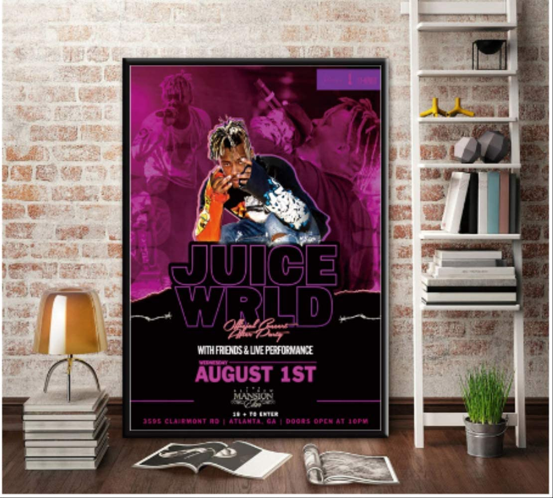 Dpfry Canvas Picture Art Poster Juice Wrld Hip Hop Rapper Music Posters And Prints Wall Picture Room Home Decoration Zh77t 40x60cm Without Frame Amazon Co Uk Kitchen Home