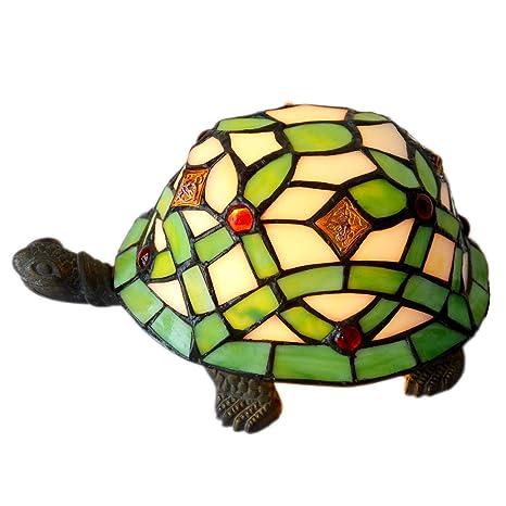 Amazon.com: Bieye - Lámpara de mesa de estilo tiffany, de ...