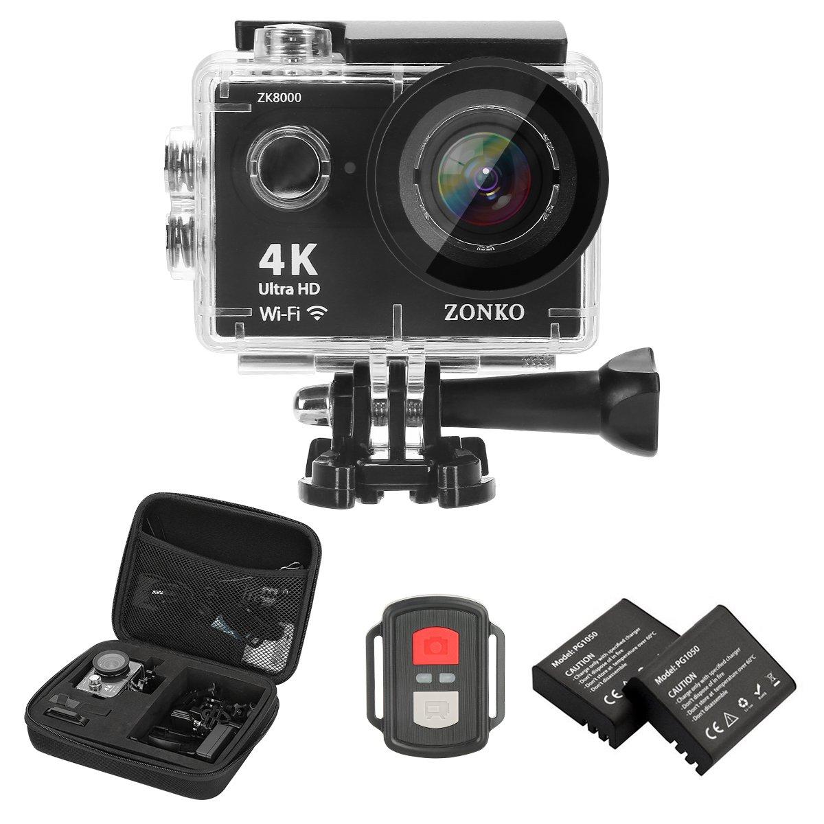 ZONKO アクションカメラ 4K+ Camera  B07K25PNG4