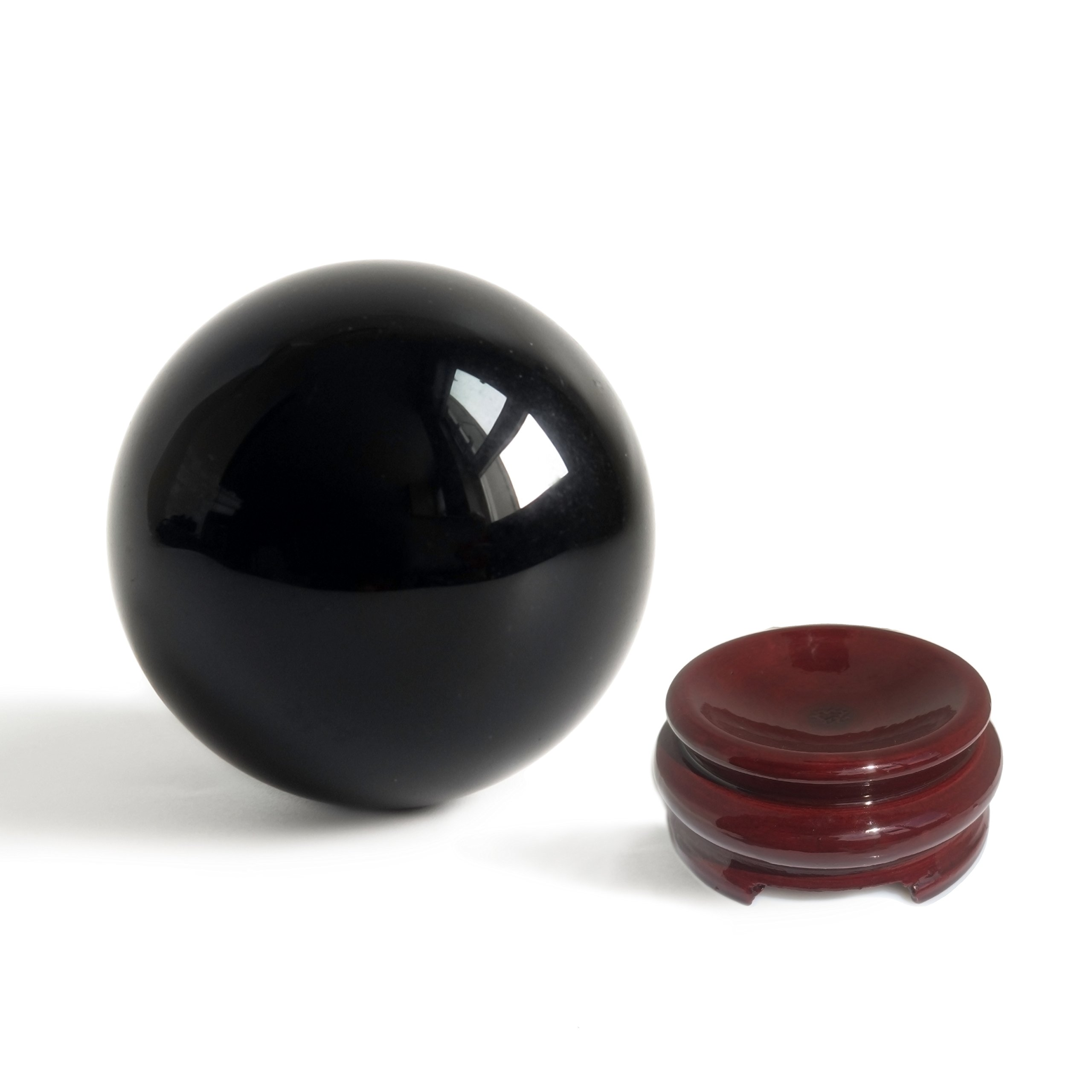 Mina Heal Obsidian Crystal Ball 160 mm/6.3'' for Fengshui Ball, Scrying, Meditation, Crystal Healing, Divination Sphere, Home Decoration, 100% Natural and Genuine by Mina Heal (Image #4)