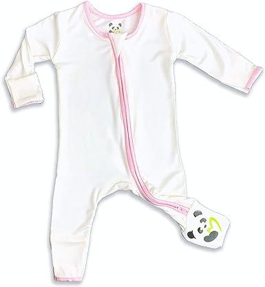 Soft Baby Pajama Bellabu Bear Unisex Cloud Grey Convertible Footie 2-Way Zipper Non-Slip Footed Romper PJ