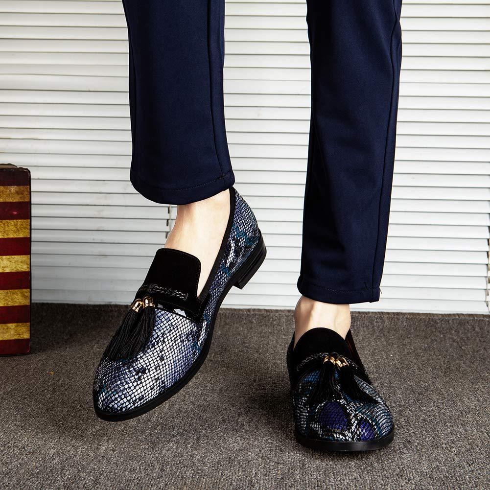 Mens Vintage Velvet Bv Embroidery Noble Loafer Shoes Slip-on Loafer Smoking Slipper Tassel Loafer