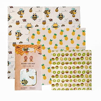 Amazon.com: Eco-Friendly Beeswax Wrapping Paper, Reusable Wraps ...