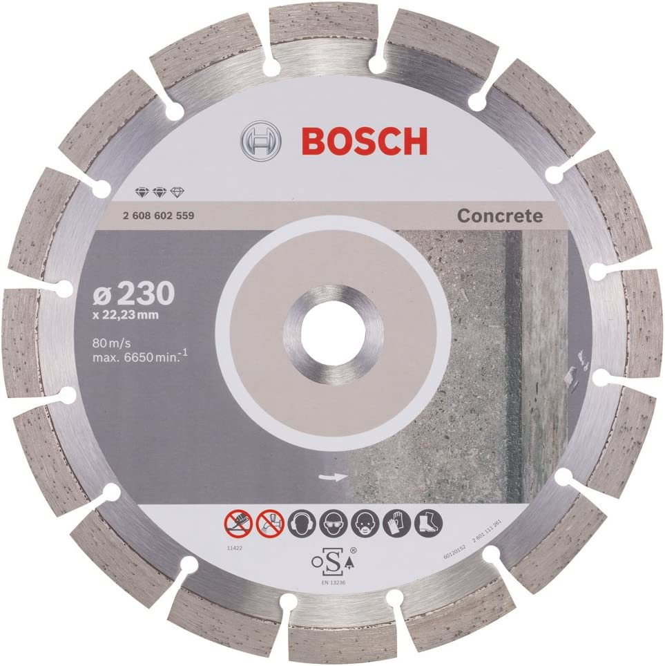 Bosch 2 608 602 559 - Disco de corte de diamante Expert for Concrete (230 x 22,23 x 2,4 x 12 mm)