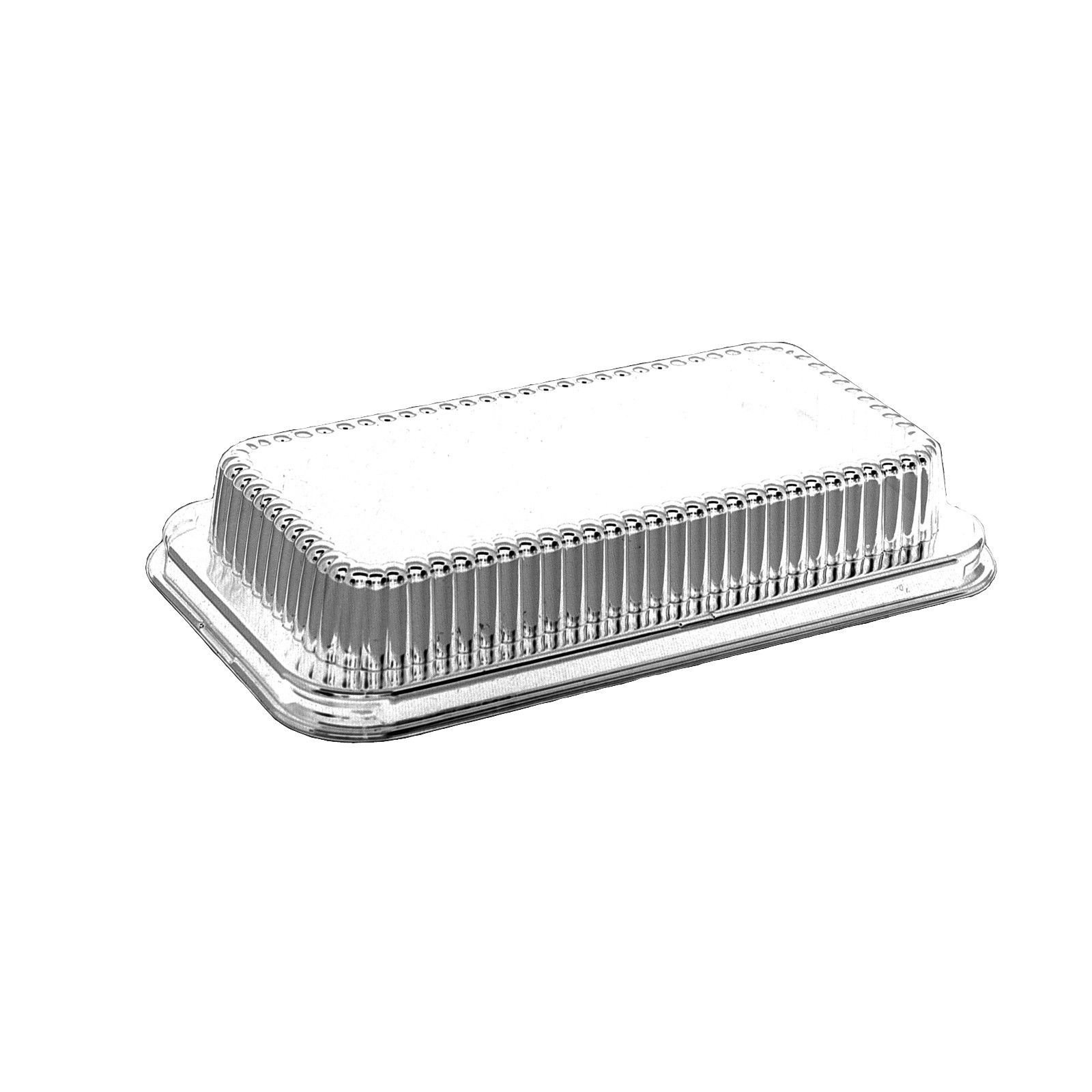 Handi-Foil 2 lb. Aluminum Foil Loaf Bread Pan Tin w/Dome Lid Heavy Duty Hfa #316 (pack of 50)