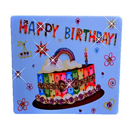 Buy Generic DIY Crystal Diamond Sticker Pasted Mosaic Display Painting 3D Handmade Craft Birthday Cake L Online At Low Prices In India