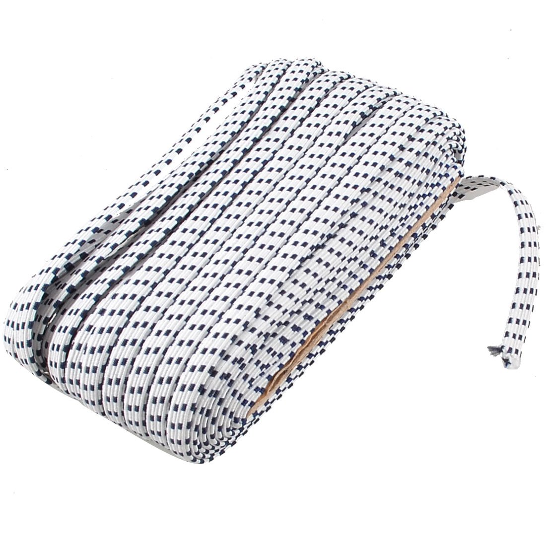 Trousers 5mm Width White Black Square Print Garment Elastic Stretchy Band 20 Meters uxcell a12120500ux0026