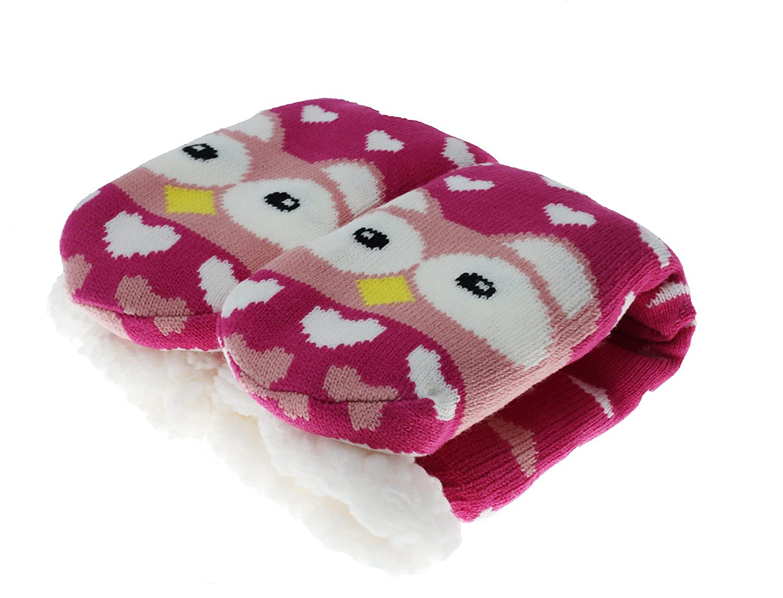 CityComfort Slipper Socks Mujer Girls Premium Home Soft Calcetines Tamaño 4 5 6 7 8 - Novedad Owl Dog Cat Fluffy y Furry Slipper Sock - Presente hermoso ...