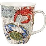 Coastal Blue Crab Feast Red Crab Fiesta Coffee Latte Tea Harbor Mug