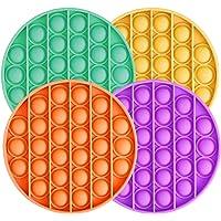 4PCS Push Pop Pop Bubble Sensory Fidget Toy Autism Special Needs Stress Reliever,Squeeze Sensory Toy