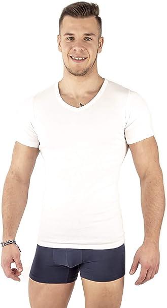 Mount Swiss - Pack de 3 Camisetas para Hombre con Cuello en V I ...