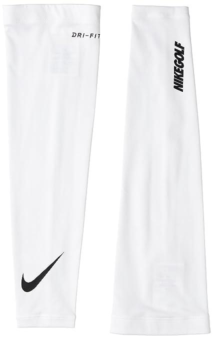 promo code 3c2bd e3858 Nike Unisex Dri-Fit Solar Arm Sleeve (White Black, XS Small