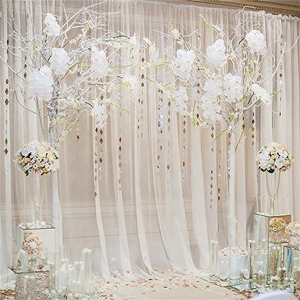 Amazon Ofila Wedding Backdrop 5x5ft Romantic Flowers Bride