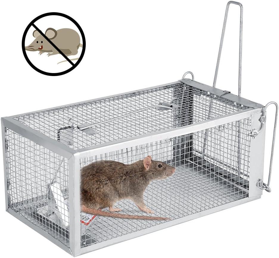 14 Josopa pi/ège /à Animal Vivant Cage pi/ège /à /écureuil ray/é Souris pi/èges /à Souris pour Petits Animaux rongeurs 26.2 11.4cm