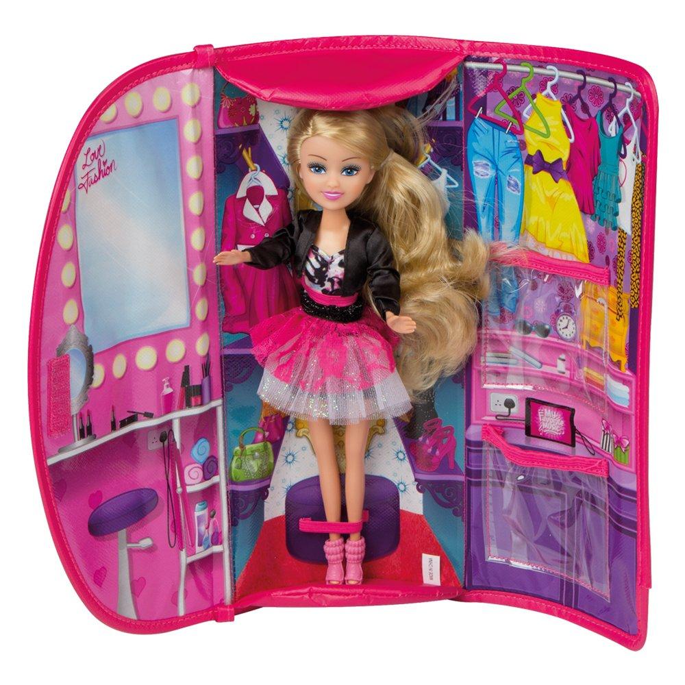 ColorBaby - Muñeca Sparkle Girlz 27 cm & bolso violeta y brillantes (85157): Amazon.es: Juguetes y juegos