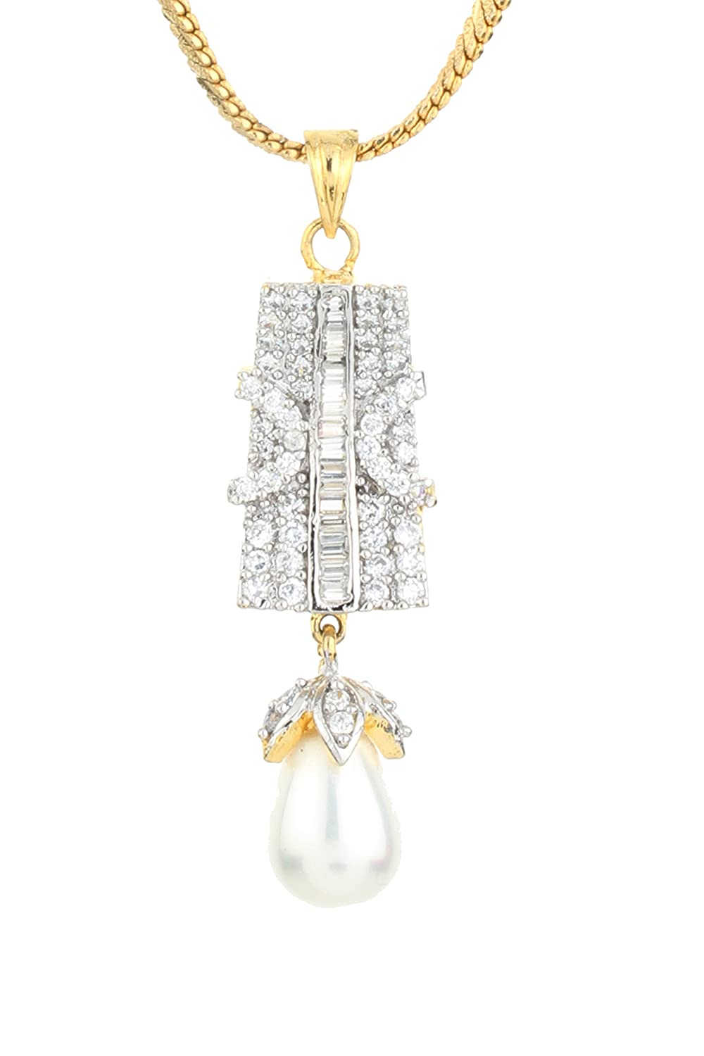 Dilan Jewels HAPPINESS Collection Pearl Drop Classy Kitty Party Locket Set For Women