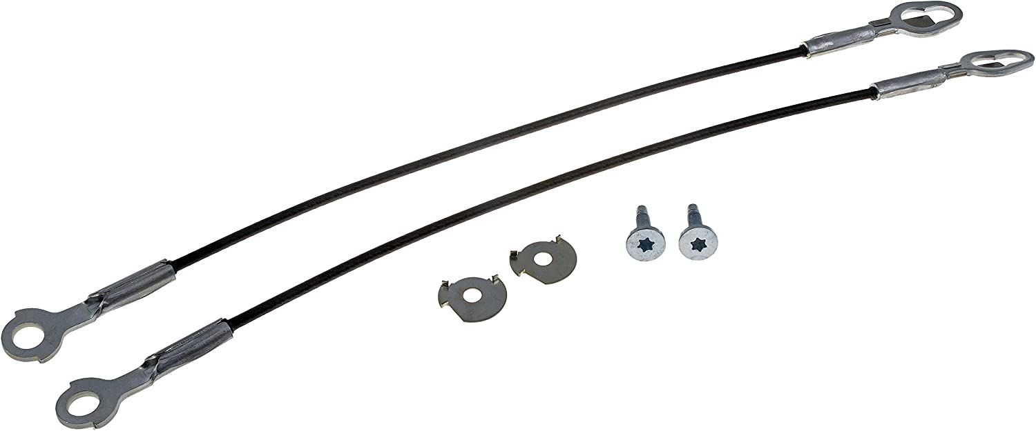 Tailgate Lift Support Cable 21 1//8 Length Left//Right Pair PT Auto Warehouse TC-FO007-P
