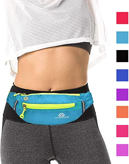 Yellow Finger Sport Waist Bag Fanny Pack Adjustable For Hike