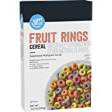 Amazon Brand - Happy Belly Fruit Rings Cereal, 12.2 Ounce