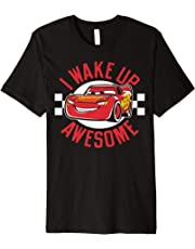 Disney Pixar Cars 3 McQueen Wake Up Awesome Graphic T-Shirt