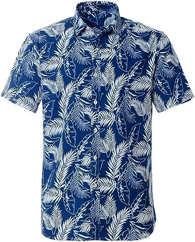 Camisa Hawaiana para Hombre de algodón Puro de Verano de ...