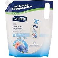 Mantovani Neutrale vloeibare zeep, ecoricaric, gevoelige huid, talkum en witte bloemen, 750 ml
