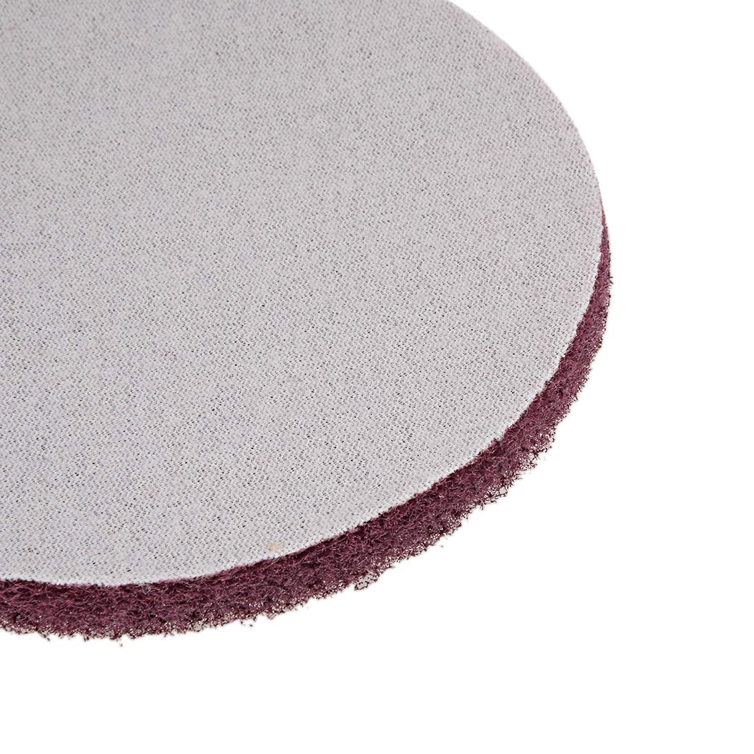 sourcing map 7 Inch Scrubber Scouring Pads 1000-Grits Drill Scuffing Disc Hoop and Loop Surface Conditioning Disc 2pcs