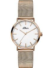 S.Oliver Damen Analog Quarz Armbanduhr SO-3272-MQ