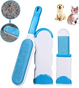 CPSYUB Pet Hair Remover, 2 in 1 Double-Sided Dog/Cat Lint Brush with Self-Cleaning Base, Pet Hair Roller for Pet Hair Fur Remover for Furniture, Clothing