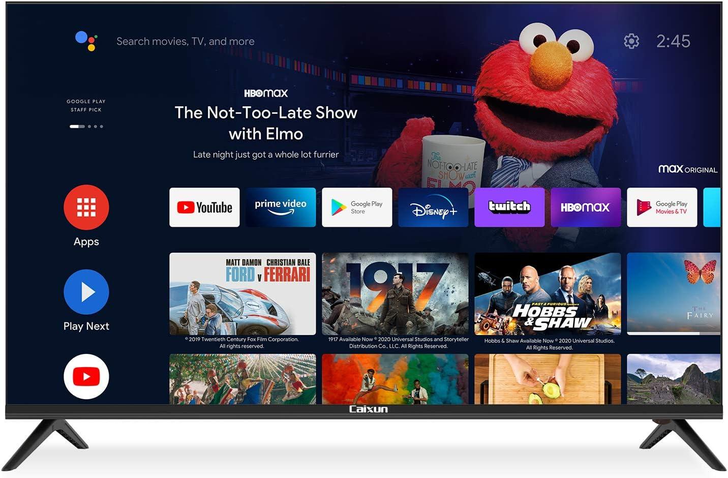 Caixun Android 9.0 TV Smart LED TV EC50S1A de 50 Pulgadas,4K Television,HDR10,Bluetooth,Youtube,Netflix,Prime Video,Sintonizador Triple,Procesador ...