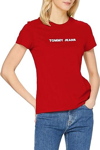 Tommy Hilfiger Crew Logo Camisa para Mujer
