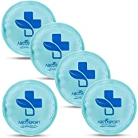 Round Reusable Gel Ice Packs – Set of 5 Small Gel Ice Packs – Ideal for Cold or Hot Therapy - No Leaks, No Drips - Microwaveable - Effective Pain Relief, Sinus Relief, Swelling Control And More