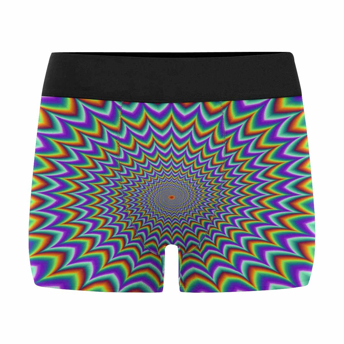 INTERESTPRINT Boxer Briefs Mens Underwear Pulsing Fiery Spirals Optical Illusion of Movement XS-3XL