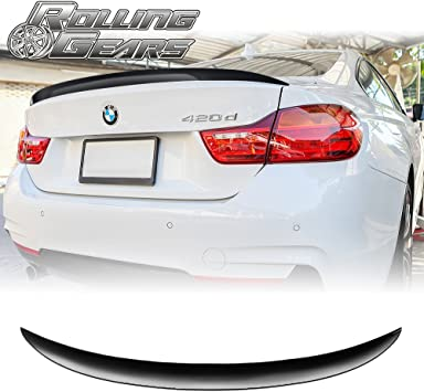 Jet Black Finish F30 F80 ABS Rear Trunk Lid Spoiler for 13-18 3ers /& M3
