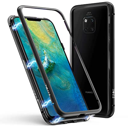 watch bfcd5 9b316 Huawei Mate 20 Pro Case, ZHIKE Magnetic Adsorption Case Metal Frame  Tempered Glass Back with Built-in Magnet Cover for Huawei Mate 20 Pro  (Huawei ...