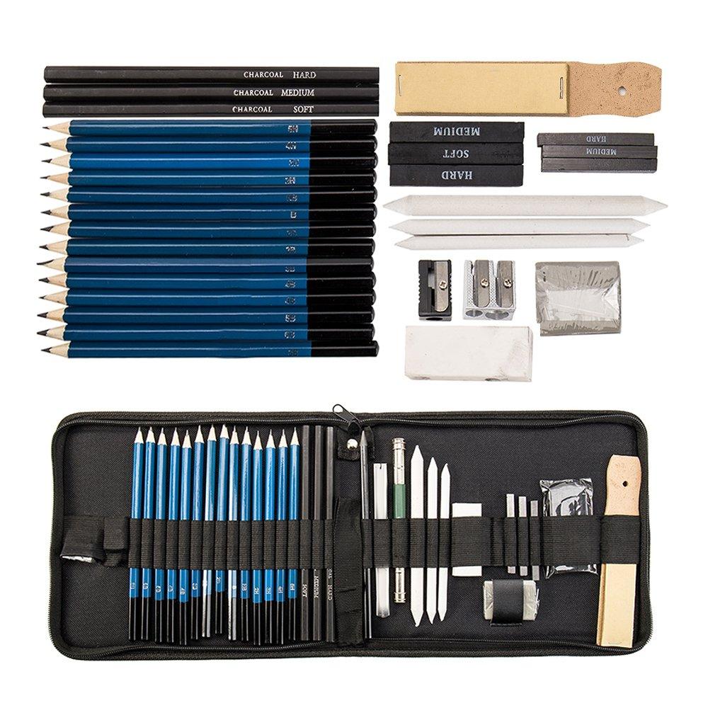 Skizzieren f/ür K/ünstler Anf/änger Sch/üler K/ünstler MeteorFlying 36 St/ück Skizze Bleistift Set Bleistifte Skizzierstifte Set Bleistifte zum Zeichnen