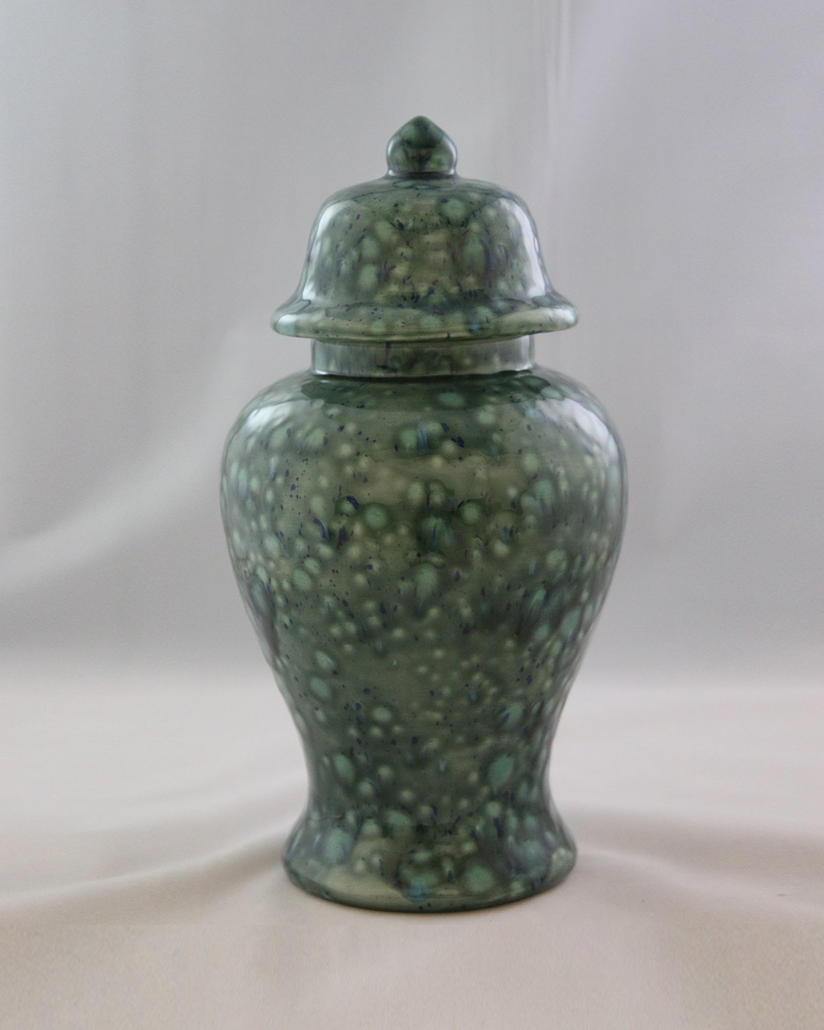Handcrafted Ceramic Urn - Azure -122 cu in - Various Colors and Sizes Available, Cremation Urn for Ashes, Pet Urn