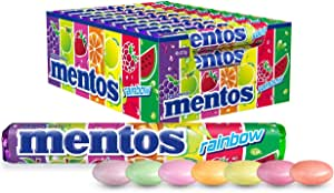 Mentos Rainbow Candy Roll, 40 Rolls, Rainbow Mix of Flavours, 40 x 37.5g