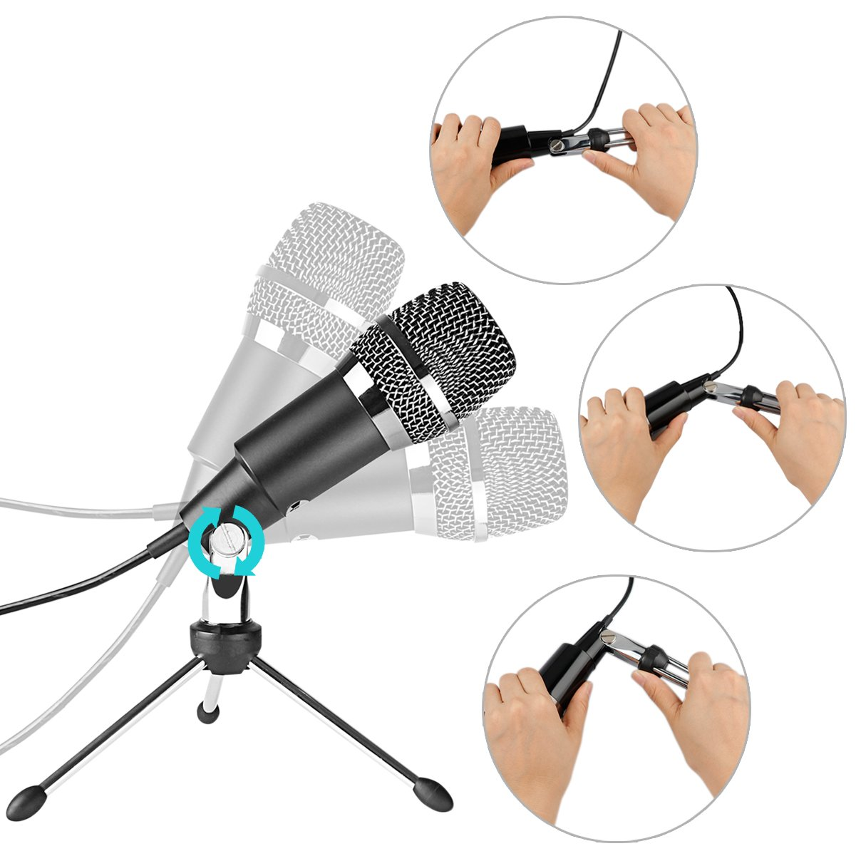 FIFINE TECHNOLOGY USB Microphone,Fifine Plug &Play Home Studio USB Condenser Microphone for Skype, Recordings for YouTube, Google Voice Search, Games(Windows/Mac)-K668 by FIFINE TECHNOLOGY (Image #8)