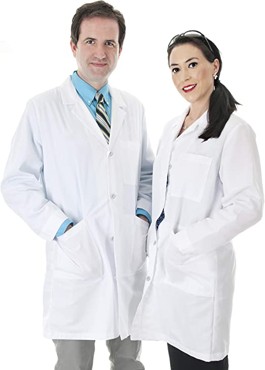 S-XXXL White Lab Coat Medical Nurse Doctor Coat Hospital Uniform Laboratory