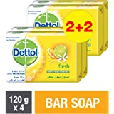 Dettol Fresh Anti-bacterial Bar Soap 120gm (2+2)